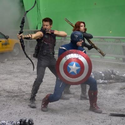 Vingadores marvel bastidores filmagens set de gravação cenas de ação!
