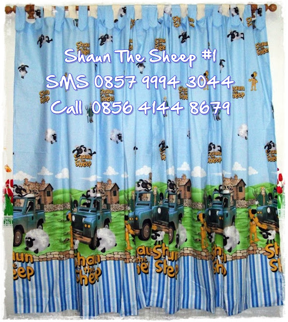 Hordeng Motif Kartun Shaun the Sheep Murah