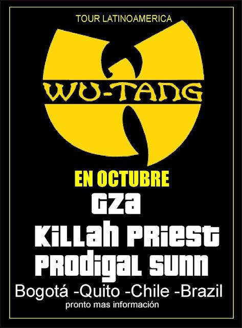 Membros do Wu Tang Clan vão fazer um Tour pela America latina