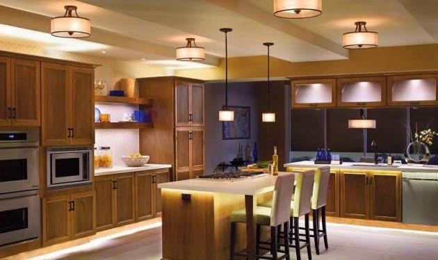 ديكور وإضاءة المطبخ