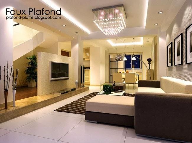 Derniers Idees Modeles De Faux Plafond Pour Les Salons Faux