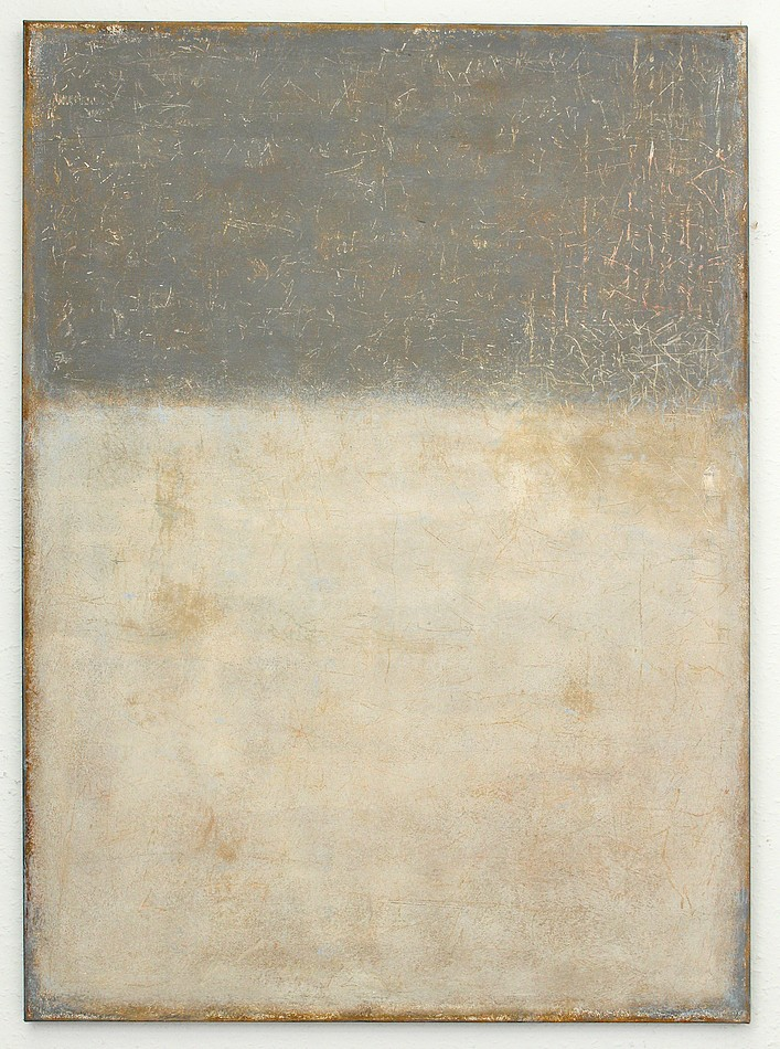 Christian hetzel grey brown painting for Minimal art kunstwerke