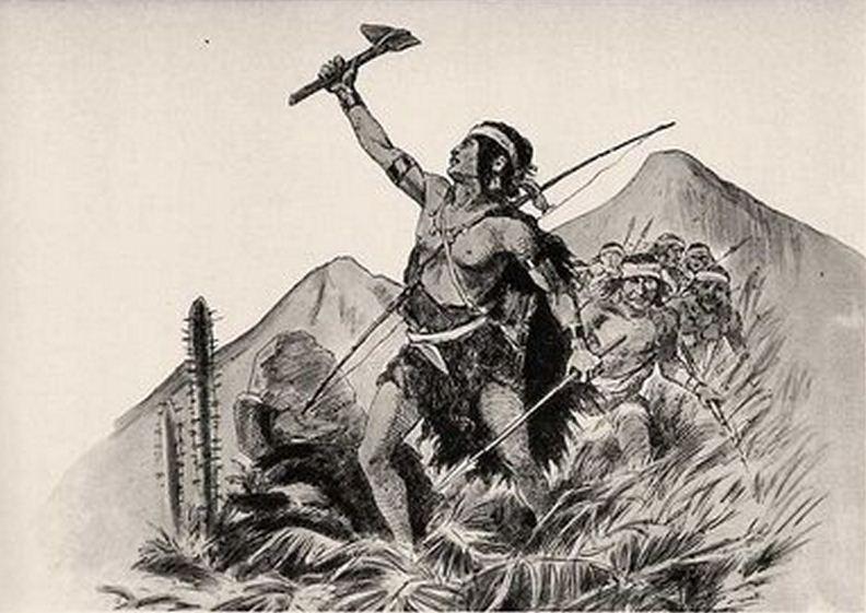 Mapuche Al Conquistador Espanol  Enzo Con Michimalonco Mapuche 1500