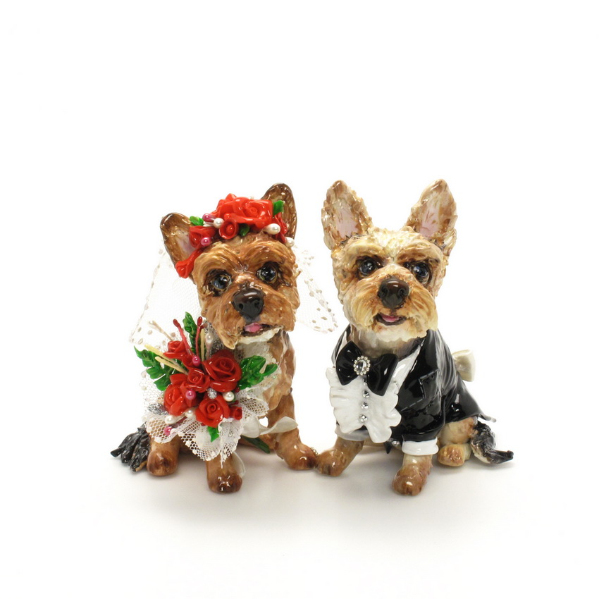 Wedding Cake Topper Yorkie