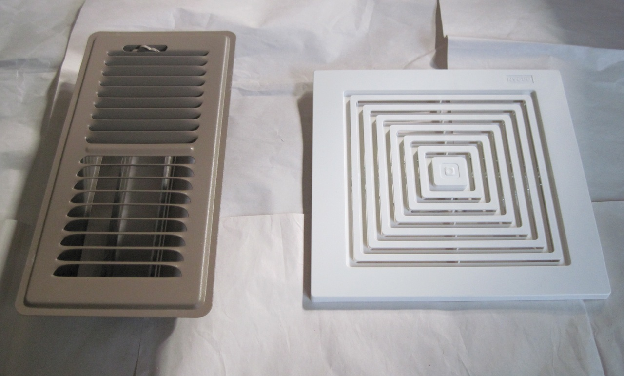 Hello, Floor Registers and Fan Exhaust Cover! | Being Home