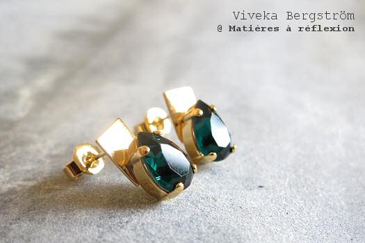 SOLDES boucles émeraude Viveka Bergström