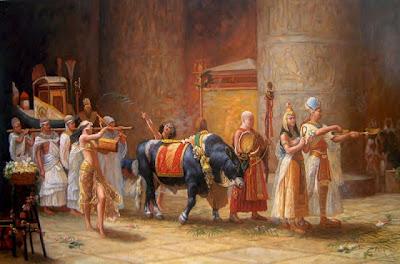 Carnaval no Antigo Egito - culto ao touro Apis