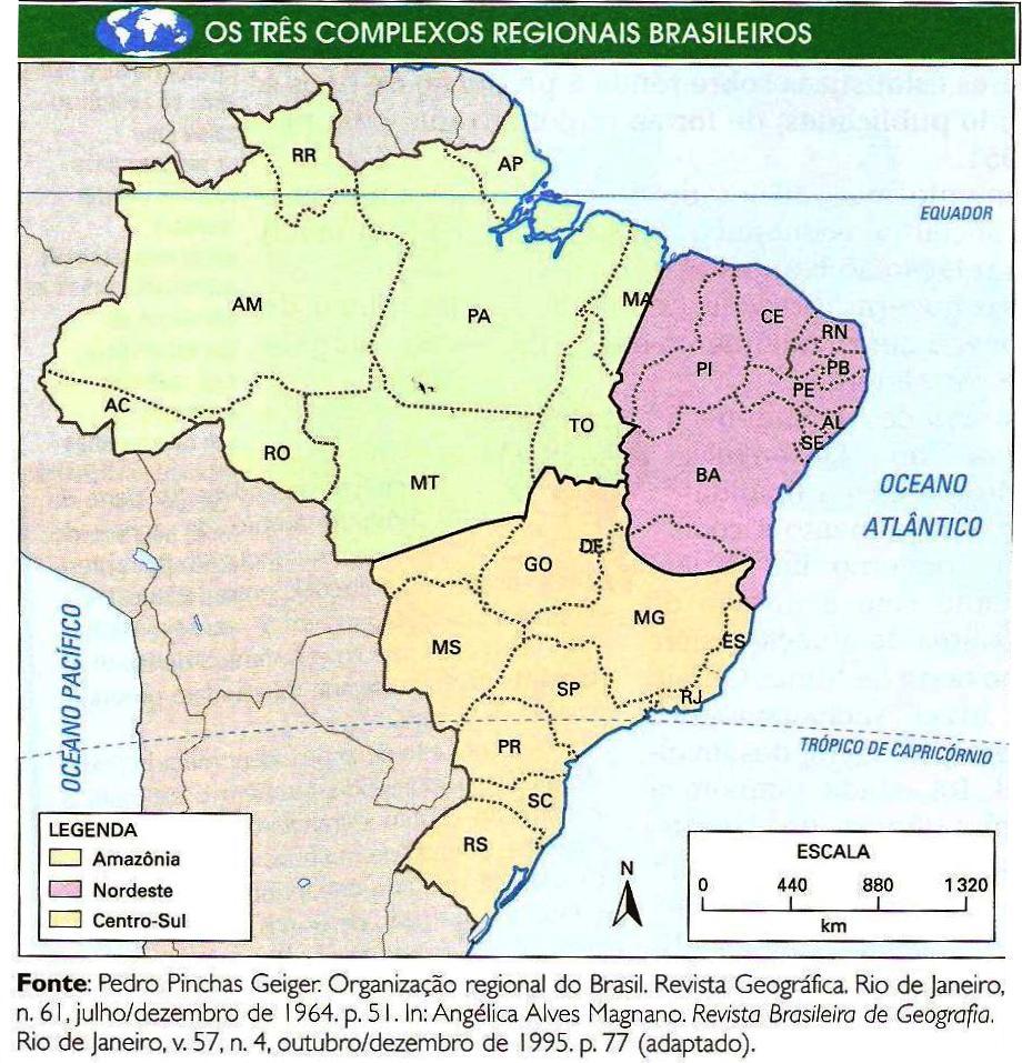 Mapa Regional Do Brasil Ibge