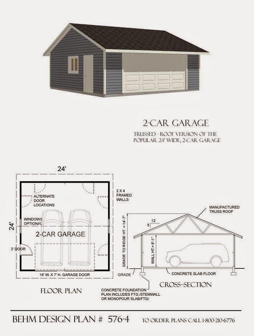 Garage plans blog behm design garage plan examples for Garage gable