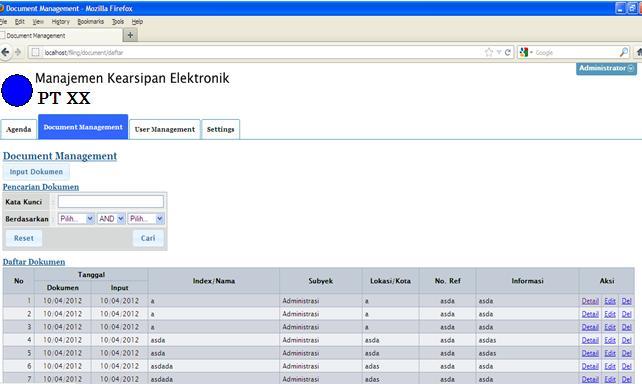 Doc Management Berikut Ini Contoh Aplikasi Sistem Kearsipan Elektronik