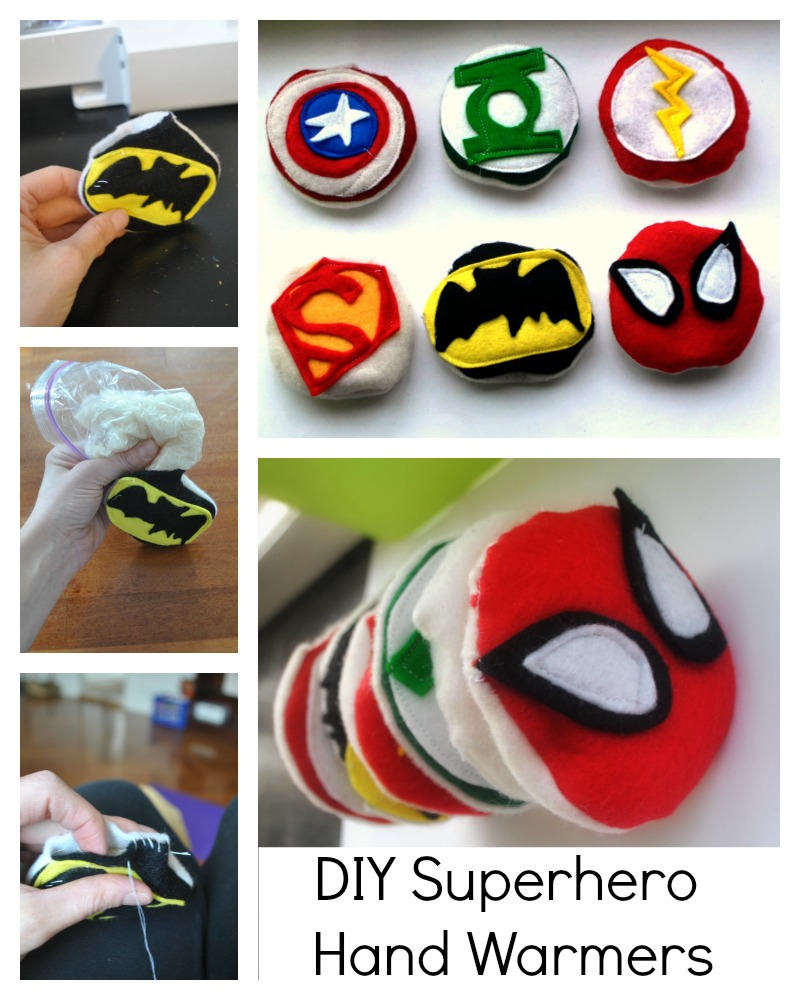 DIY Superhero Hand Warmers