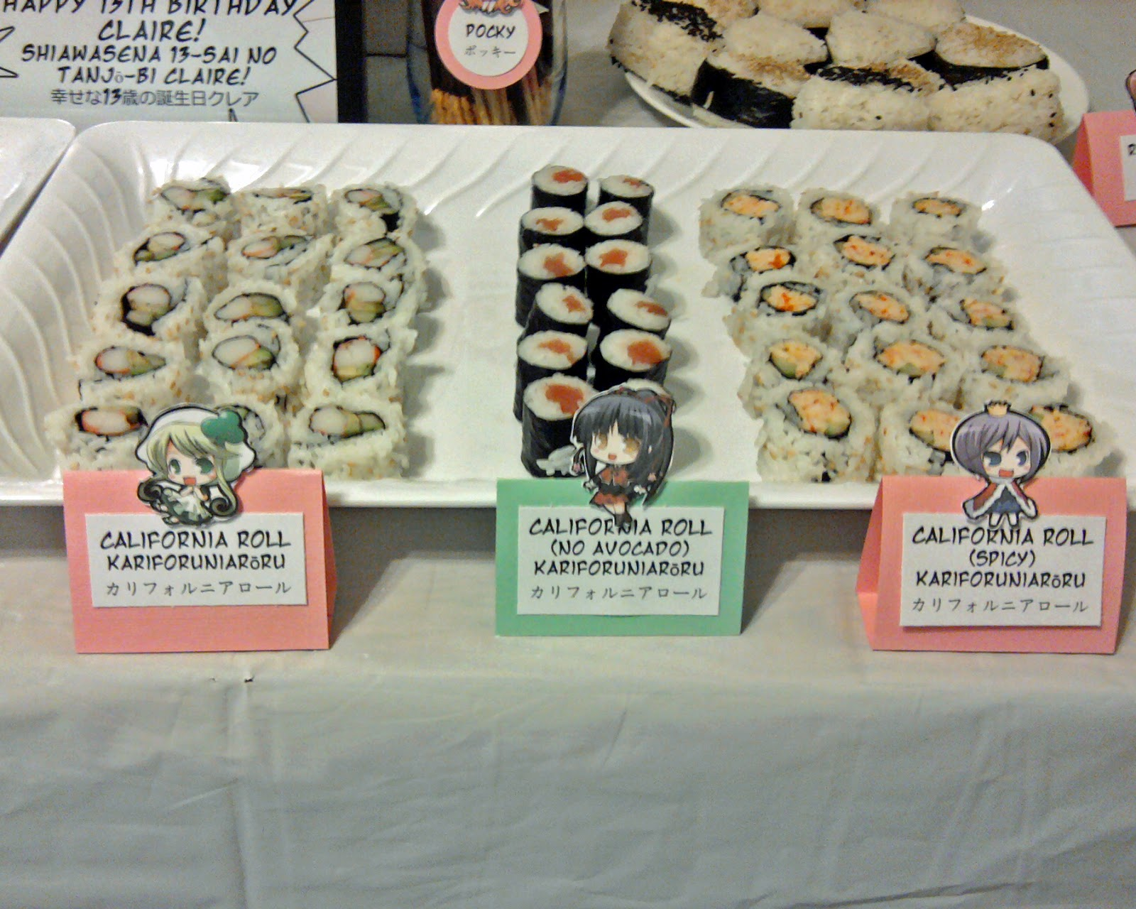 Sushi Dinner Party Ideas Part - 36: These Are The Anime Themed Food Labels For The Sushi.