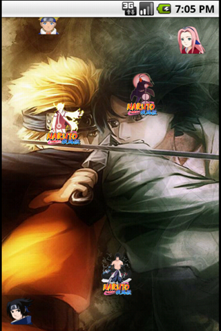 Enjoy the artistic battle of Naruto vs Sasuke Live Wallpaper on your Android device for free.