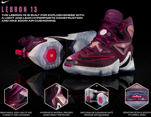 155f5beb2a07 Nike and LeBron James unveiled the LeBron 13 few hours ago. The shoe  combines superior lock-down fit