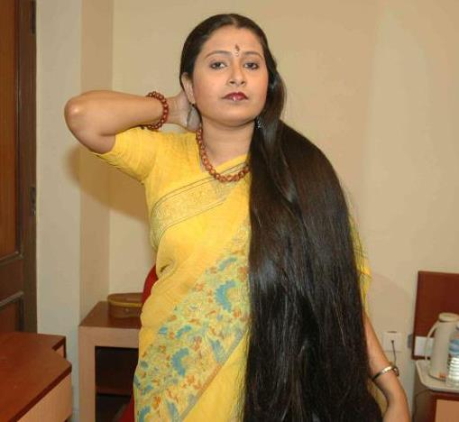 Indian rapunzel long hair video
