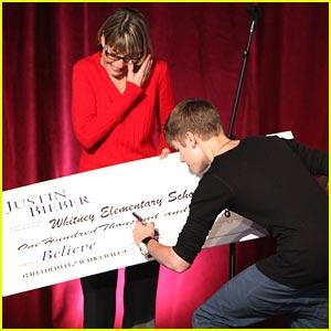 Justin Menyumbang USD 100 Ribu