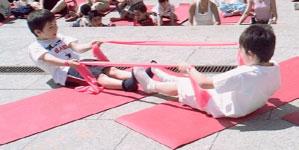 pilates y los niños