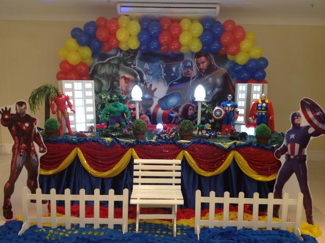 tema Os vingadores - decoração de festa de aniversário infantil na Barra da Tijuca