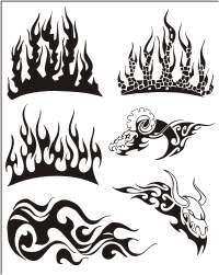 tribal-flames-airbrush-tattoo-design