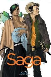 Saga by Brian K. Vaughn and Fiona Staples