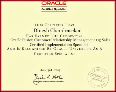 Oracle Fusion CRM Certification