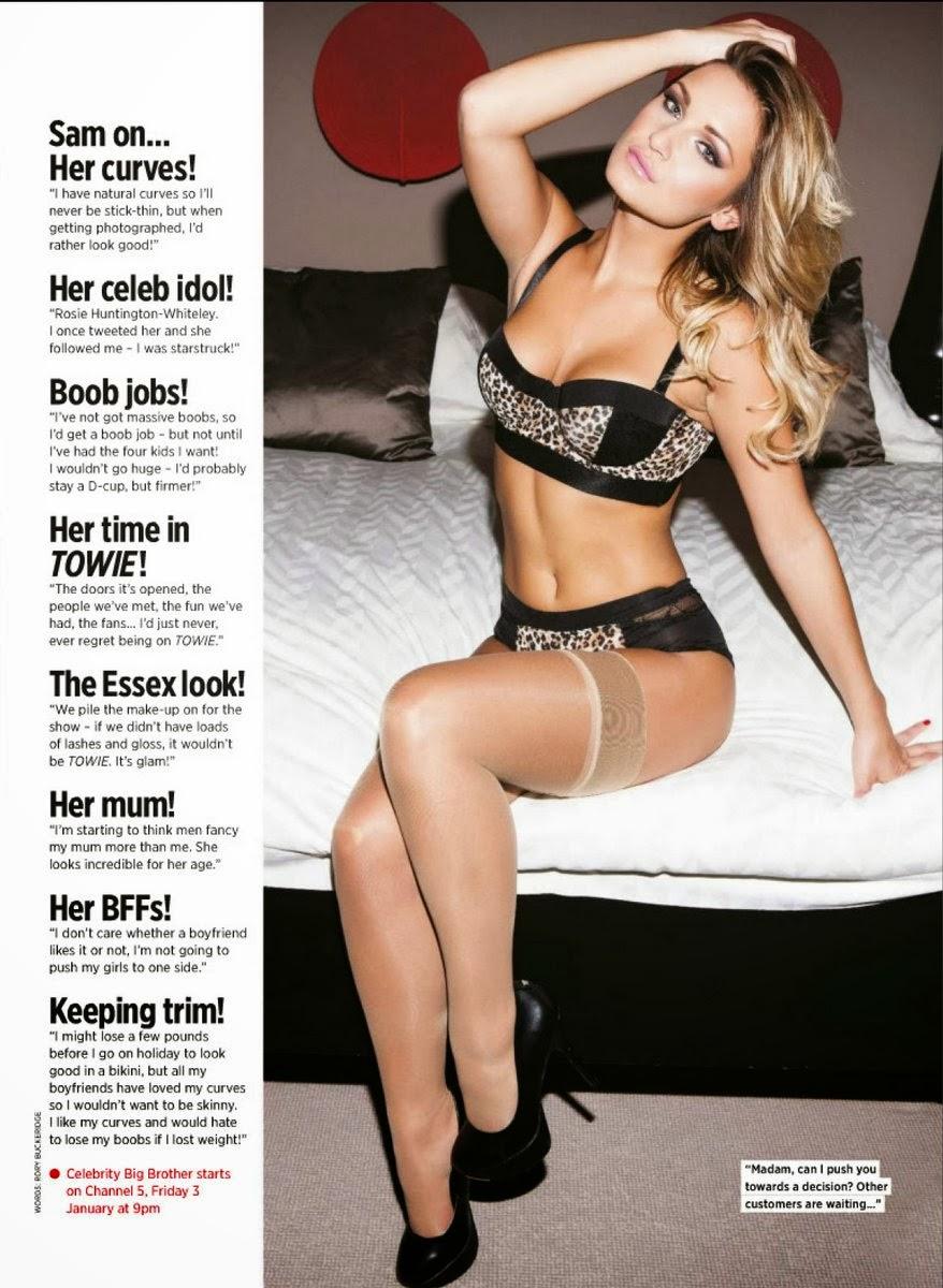 Magazine Photoshoot : Sam Faiers Photoshot For Nuts Magazine UK January 2014 Issue