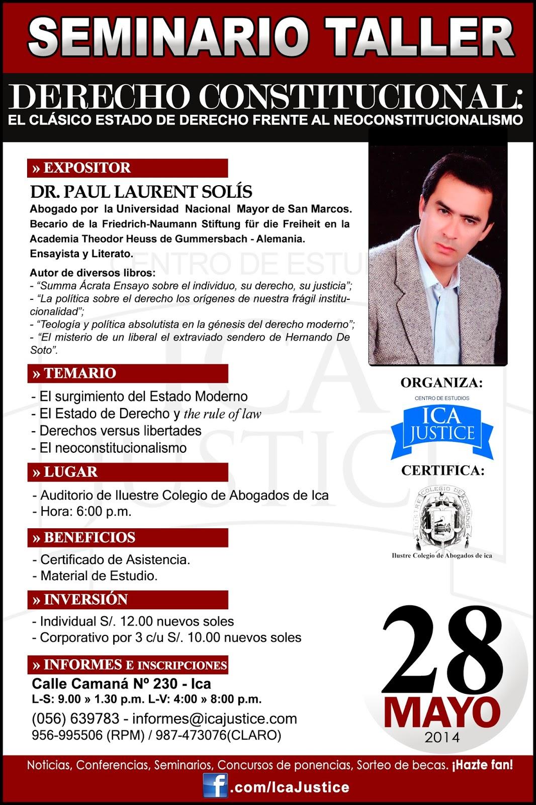 Seminario de Derecho Constitucional: Paul Laurent Solis