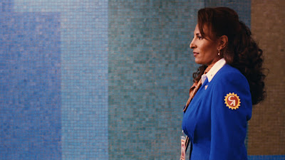 Pam Grier in the opening of Jackie Brown