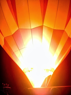 Firing up a balloon for flight