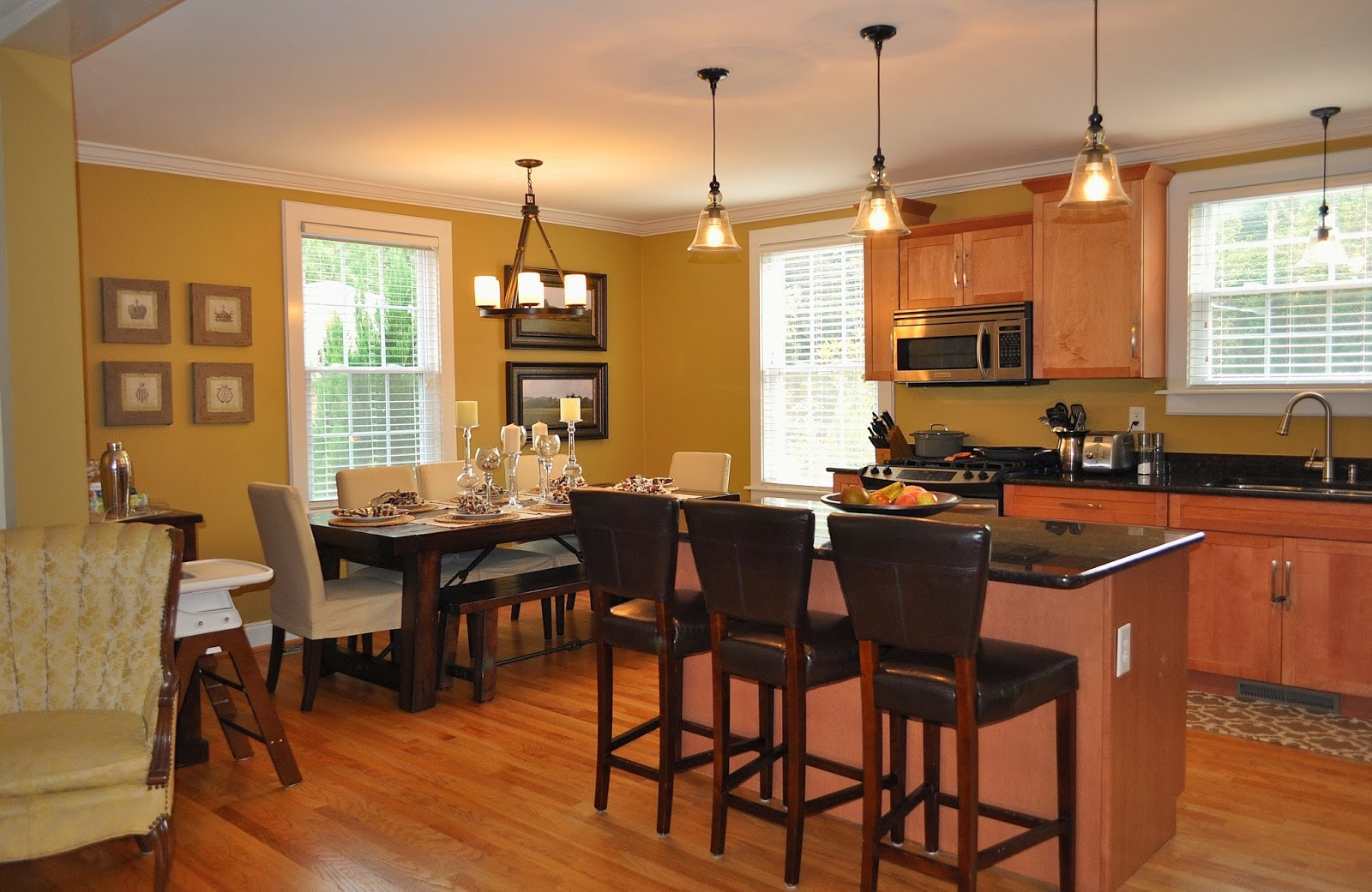 kitchen table lamps. Life  Style Blog Room by House Tour Kitchen Table Lighting Interiors Design