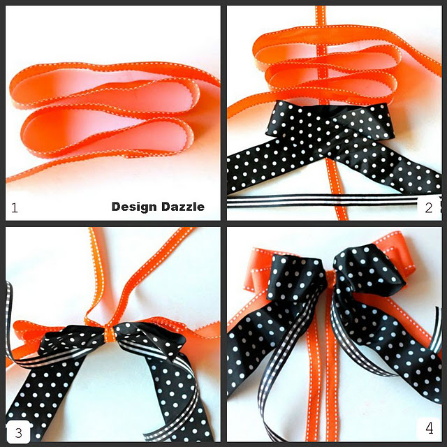 The Scrapboook Table: Layered Bow Tutorial