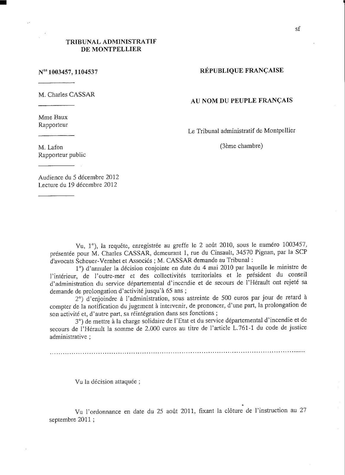 Lettre reintegration fonction publique - Mise en retraite d office fonction publique ...