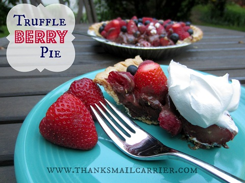 chocolate berries pie