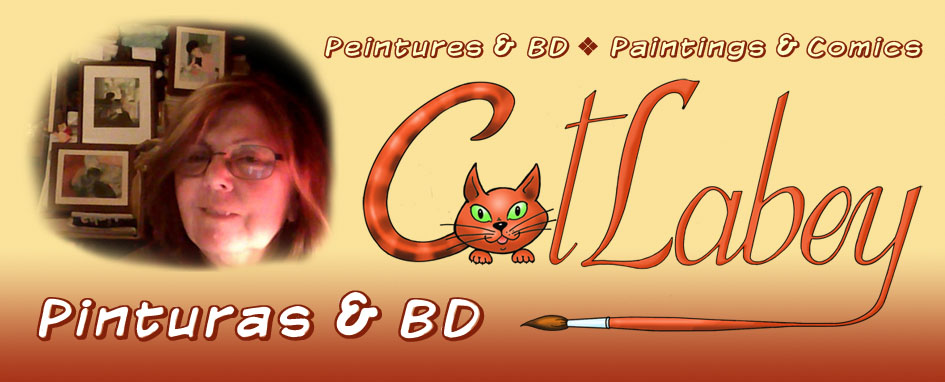 Pinturas e BD - Peintures et BD -  Paintings and comics de Catherine Labey