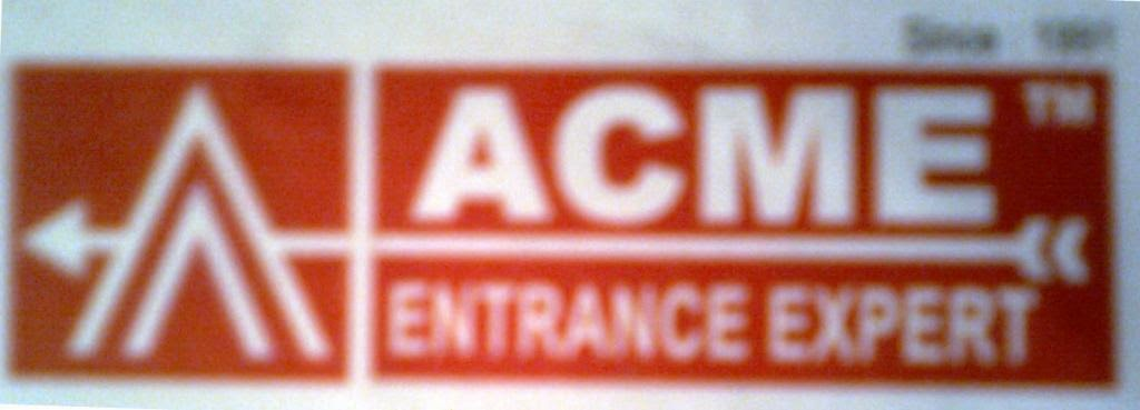 Logo of ACME Entrance Expert - Promotional Campaign By Kind Attention.