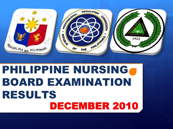PHILIPPINE BOARD EXAMINATION RESULTS