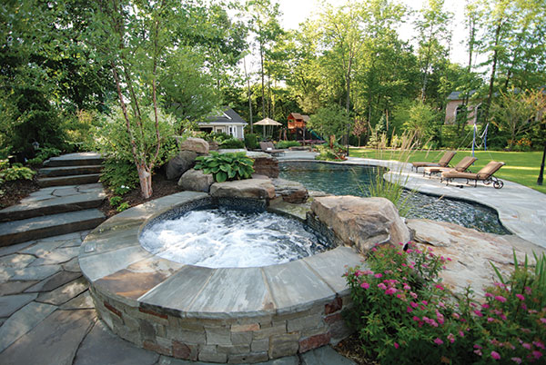 Tranquil backyard landscape design ideas backyard for Yard designer