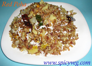 Flattened Red Rice Poha