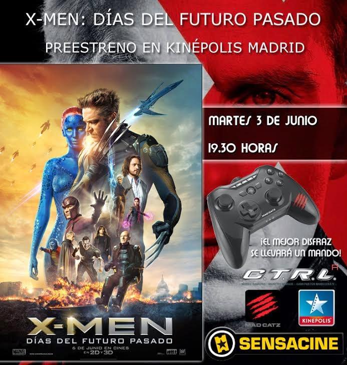 Concurso Preestreno X-Men: Días del Futuro Pasado