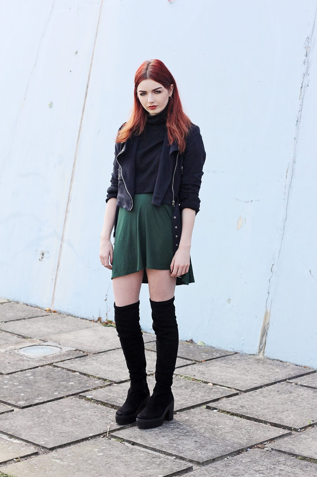 casual green daytime dress