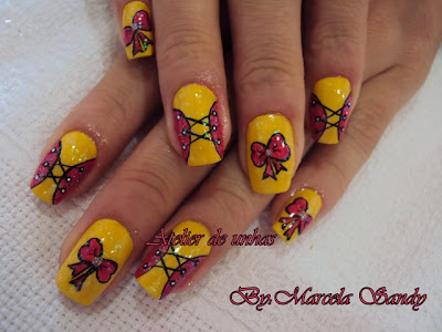 Novas fotos de unhas decoradas de marcela sandy6