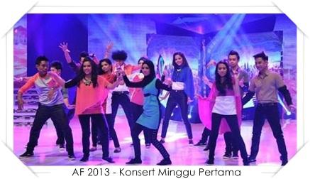 Persembahan Bintang AF 2013, konsert af 2013 , akademi fantasia 2013 , konsert minggu pertama af 2013 , peserta akademi fantasia 2013 , af 2013 , komen juri persembahan af 2013