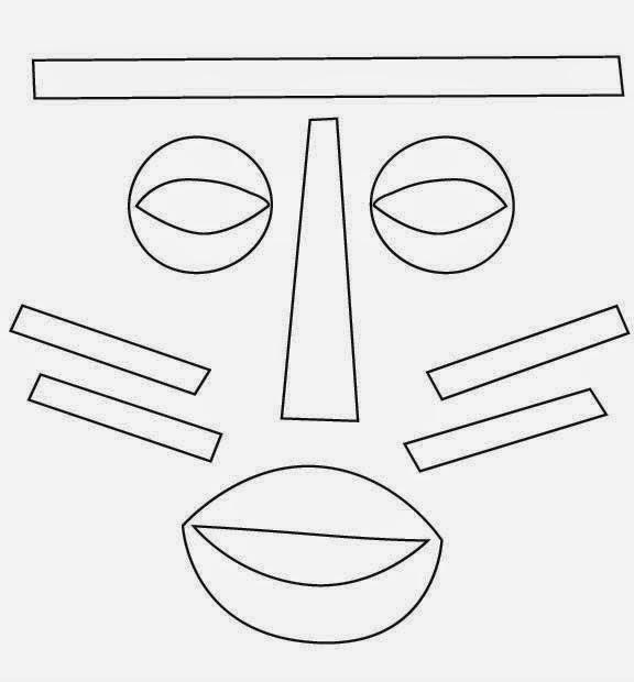 Companheiros da Educação: Máscaras Africanas Para Colorir