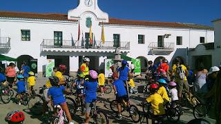 Celebración de Villanueva en bici