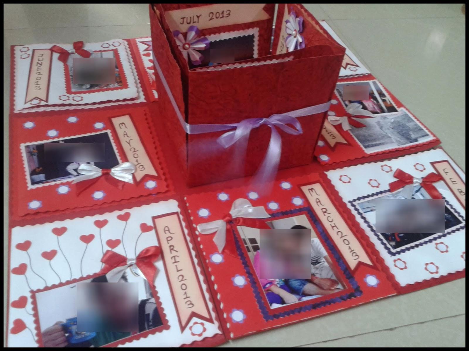 Anniversary box card ~ Lina s handmade cards exploding box for st anniversary