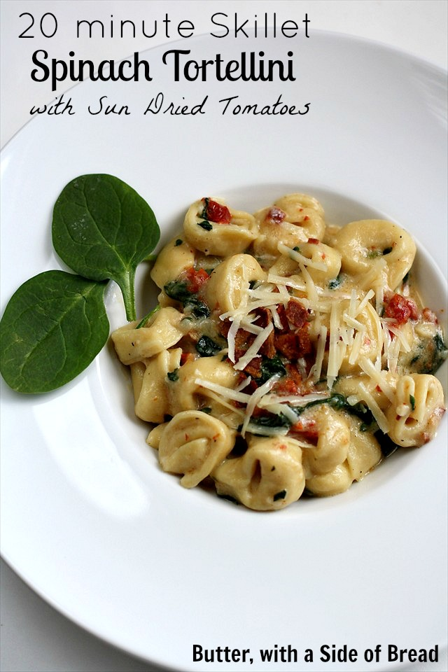 Skillet Spinach Tortellini