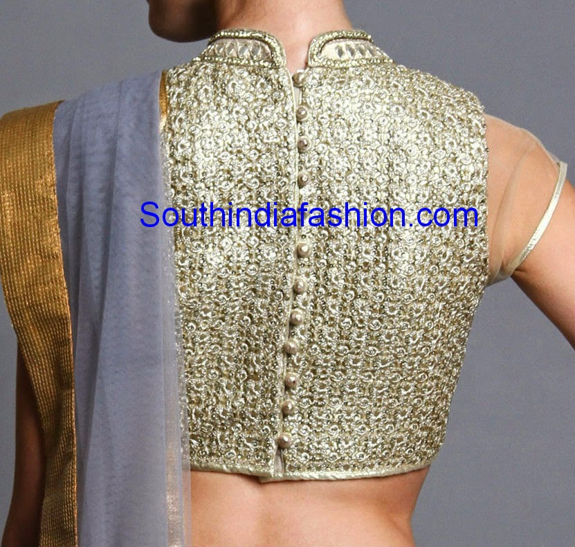 gold high neck blouse