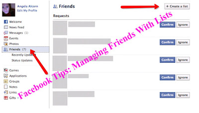 Facebook Tips: Managing Friends With Lists