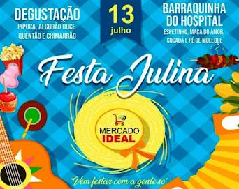 Neste sábado tem Festa Julina no Mercado Ideal