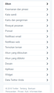 mengatur profil twitter